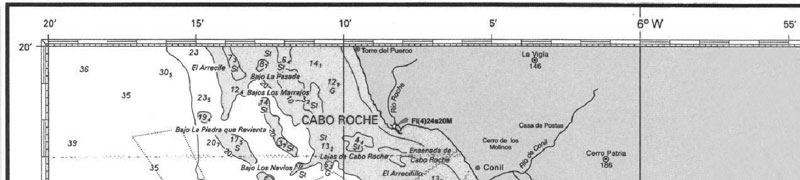PER · Longitud carta de navegación estrecho - Escola Port Barcelona